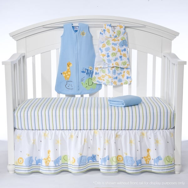Halo SleepSack 'Serengeti Blue' 5-piece Bumper-free Crib Bedding Set