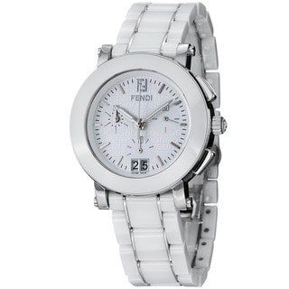 Fendi Women's F662140 'Ceramic' White Dial Chronograph Quartz Bracelet Watch