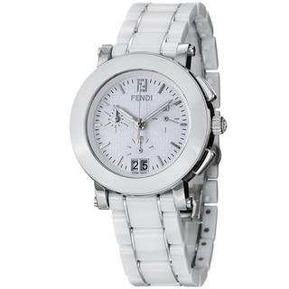 Fendi Women's F662140 'Ceramic' White Dial Chronograph Quartz Bracelet Watch