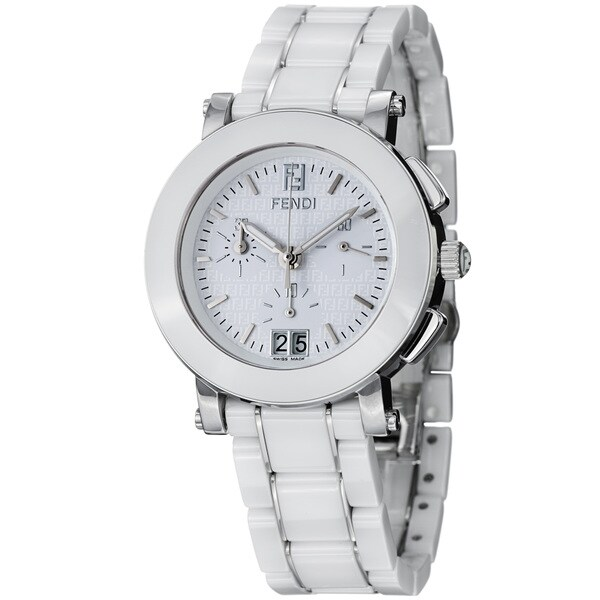 Fendi Women's 'Ceramic' White Dial