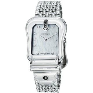 Fendi Women's F386140D 'B. Fendi' Diamond Dial Stainless Steel Quartz Watch