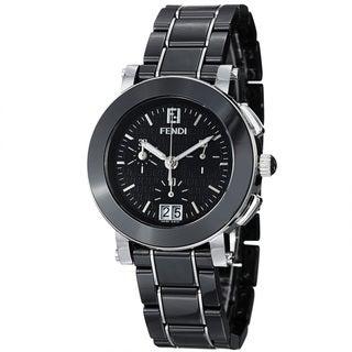 Fendi Women's F661110 'Ceramic' Black Dial Chronograph Quartz Bracelet Watch