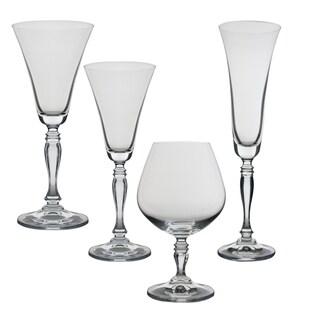 10 Strawberry Street Diana 24 Piece Glassware Set