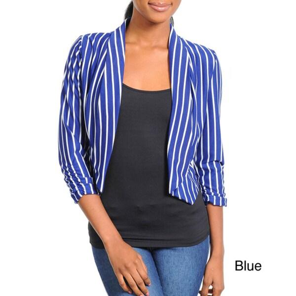 Stanzino Women's Striped Cropped Blazer