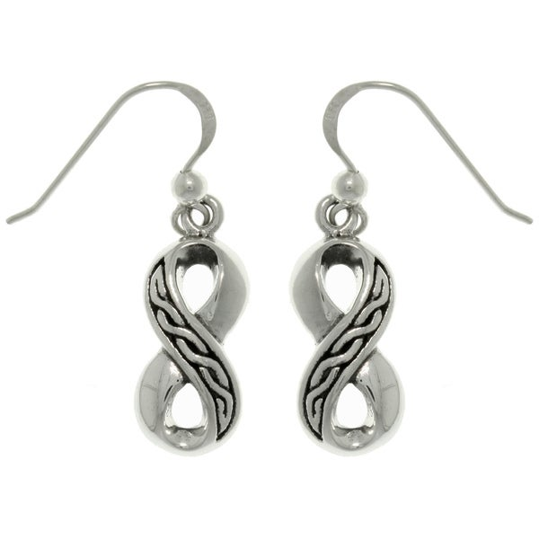 Carolina Glamour Collection Sterling Silver Celtic Infinity Earrings