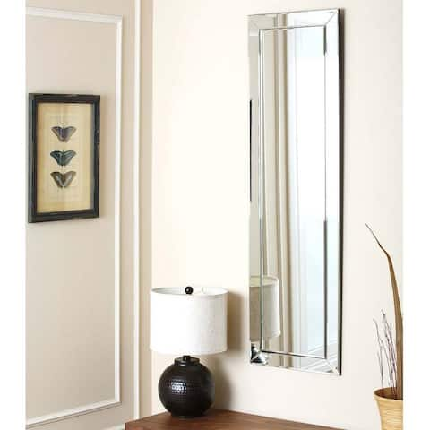 Loft Silver Modern Rectangle Wall Mirror by Abbyson