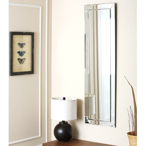 Rectangular Wall Mirror abbyson loft rectangle wall mirror - silver - free shipping today