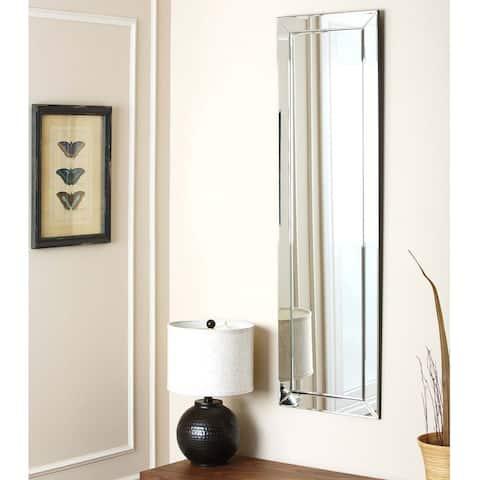 Abbyson Loft Rectangle Wall Mirror - Silver
