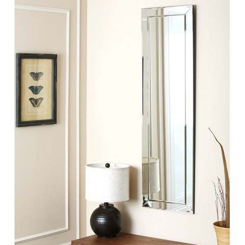 Loft Modern Rectangle Wall Mirror by Abbyson