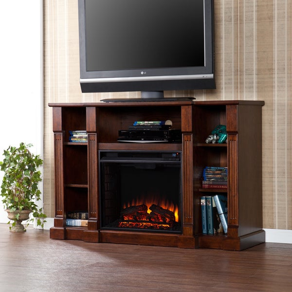 Harper Blvd Bernardo 52-inch Espresso Electric Media Fireplace