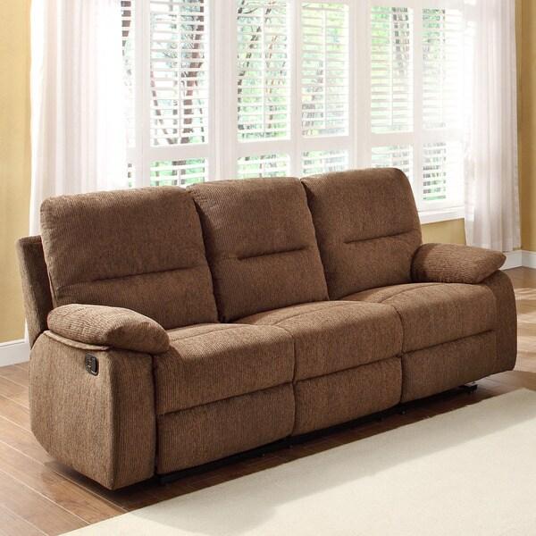 Corbridge Dark Brown Chenille Double Recliner Sofa
