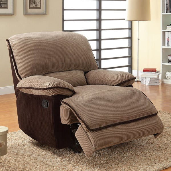 TRIBECCA HOME Selena Brown Corduroy Chair