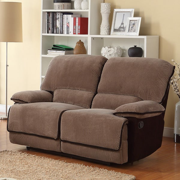 TRIBECCA HOME Selena Brown Corduroy Loveseat