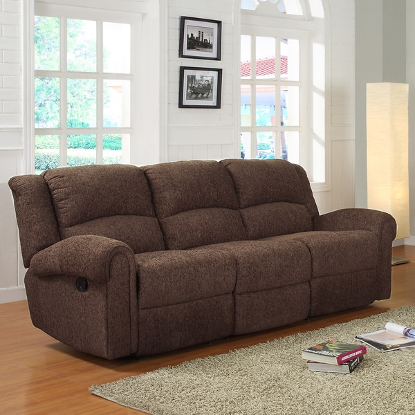 Polmont Dark Brown Chenille Recliner Sofa