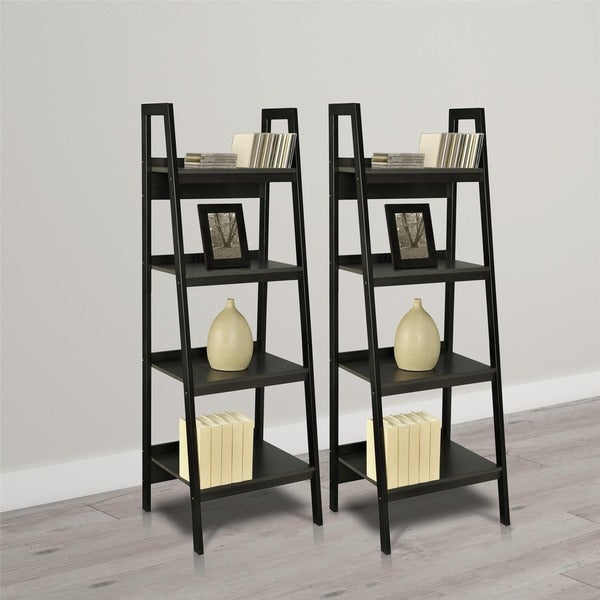 Avenue Greene Thompkins 4-shelf Ladder Bookcase Bundle (Set of 2)