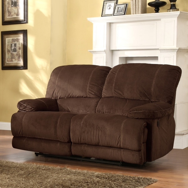 Torrey Coffee Polyester Reclining Loveseat