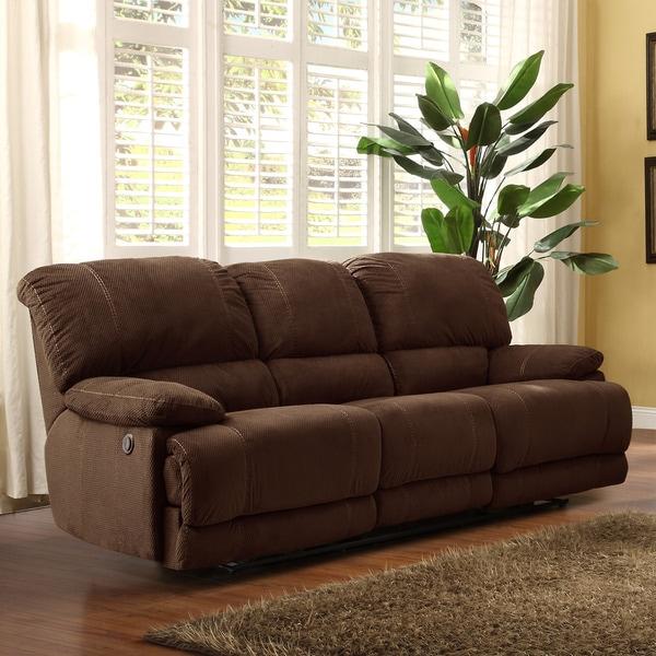 Torrey Coffee Polyester Reclining Sofa