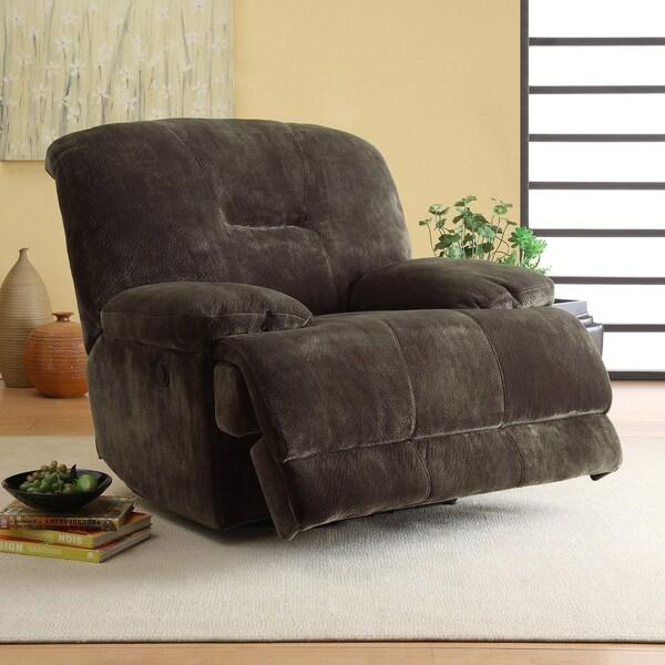 Felicity Dark Brown Microfiber Reclining Chair