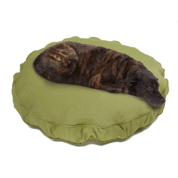 Sweet Dreams Green Indoor/ Outdoor Round Corded Sunbrella Fabric Pet Bed