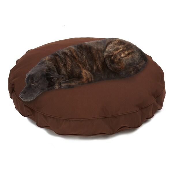 Sweet Dreams Brown Indoor/ Outdoor Round Corded Sunbrella Fabric Pet Bed