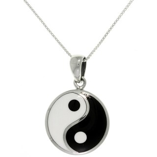 Carolina Glamour Collection Sterling Silver Yin Yang Necklace