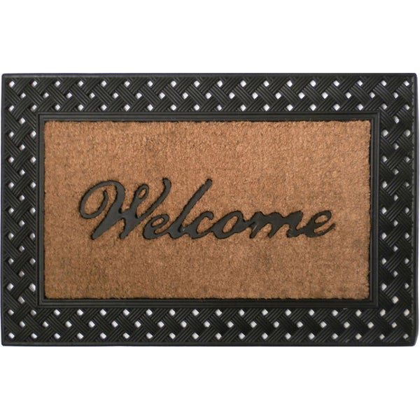 Tuff Brush Coir & Rubber Welcome Rectangle Mat (2' x 3')