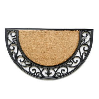 Tuff Brush Coir & Rubber Arch Door Mat (1'6 x 2'6)