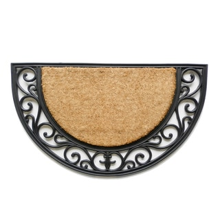 Tuff Brush Coir & Rubber Arch Door Mat (1'6 x 2'6)