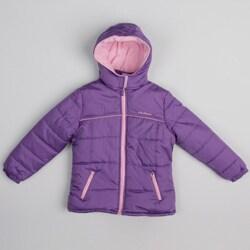 Pink Platinum Girl's Hooded Purple Jacket