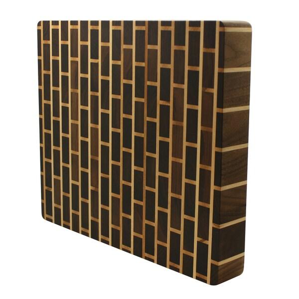 Kobi Brick Wall 1-inch Thick Butcher Block Cutting Board