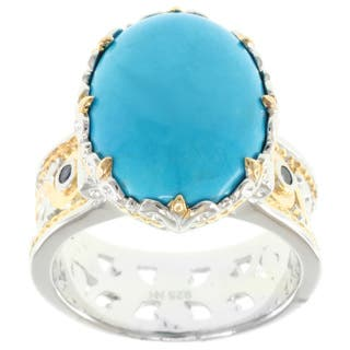 Michael Valitutti Two-Tone Howlite Ring|https://ak1.ostkcdn.com/images/products/7317567/7317567/Michael-Valitutti-Two-Tone-Howlite-Ring-P14786560.jpg?impolicy=medium
