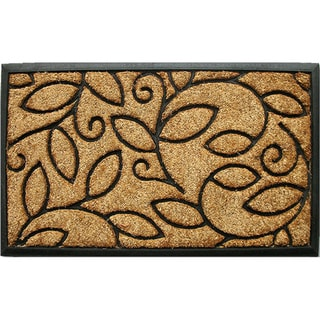 Shop Tuff Brush Coir Amp Rubber Vine Leaves Door Mat 1 5 X