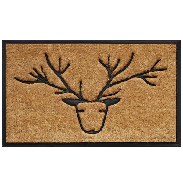 Tuff Brush Coir & Rubber Deer Door Mat (1'5 x 2'5)