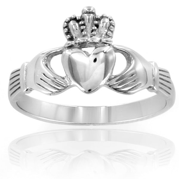 ELYA Stainless Steel Irish Claddagh Ring - Silver