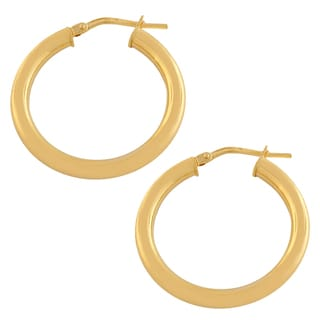 Fremada 10k Yellow Gold 20-mm Polished Tube Hoop Earrings