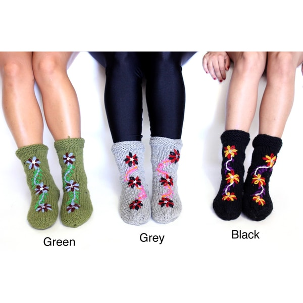 Three-Flower Socks (Nepal)
