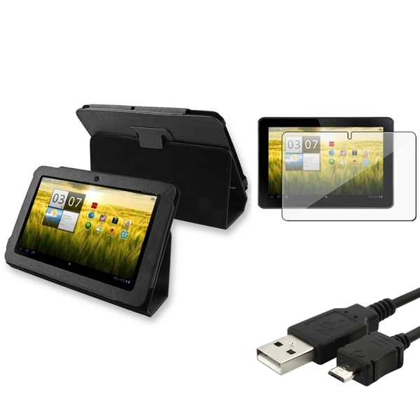 BasAcc Case/ Screen Protector/ USB Data Cable for Acer Iconia Tab A200