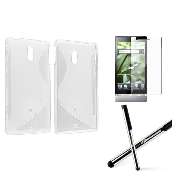 BasAcc TPU Case/ Screen Protector/ Stylus for Sony Xperia P LT22i
