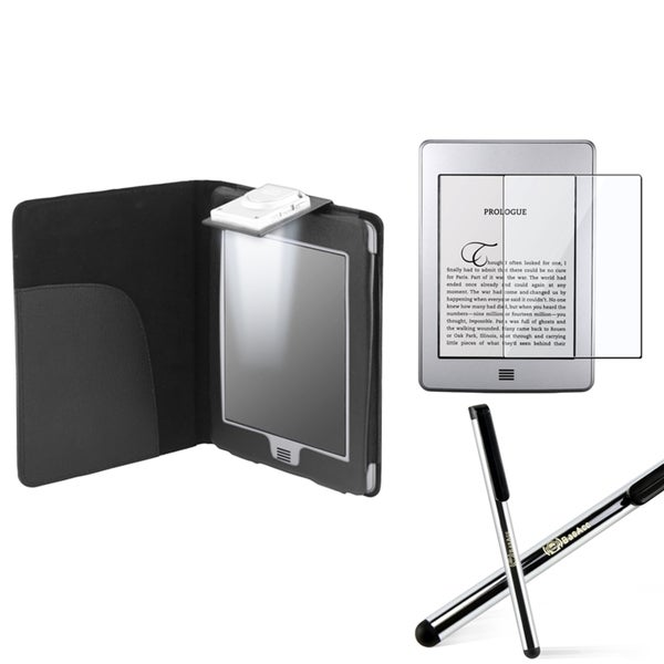 BasAcc Leather Case/ Screen Protector/ Stylus for Amazon Kindle Touch