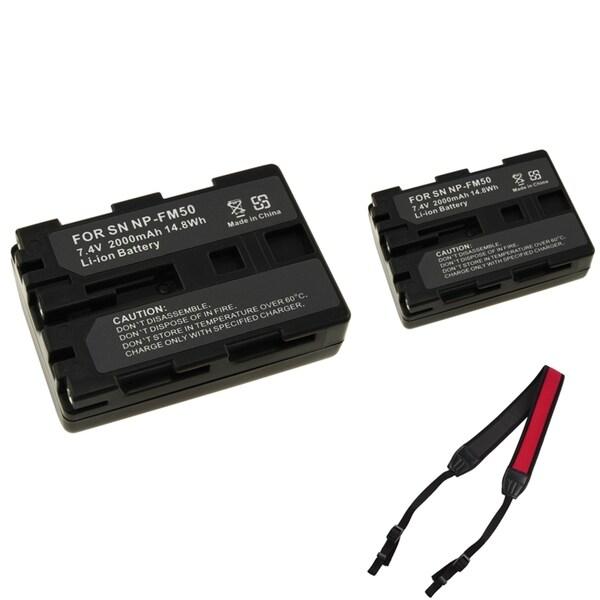 INSTEN Li-ion Battery/ Shoulder Strap for Sony NP-FM50 / NP-FM30