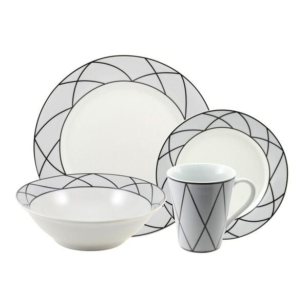 10 Strawberry Street 'Tiara' 16-piece Dinnerware Set