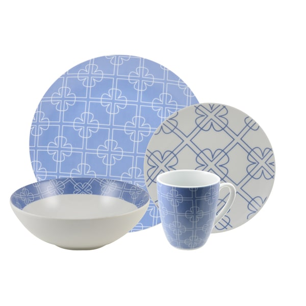 Chloe Blue 16 Piece Dinnerware Set