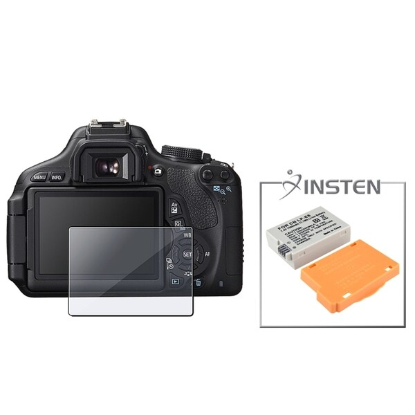 INSTEN Battery/ Screen Protector for Canon Rebel T3i/ LP-E8