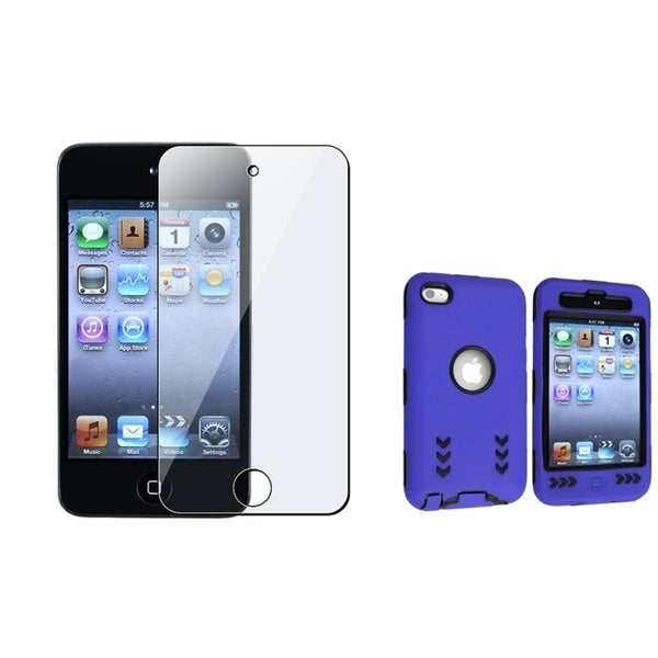 BasAcc Hybrid Case/LCD Protector Bundle for Apple iPod Touch 4th Generation