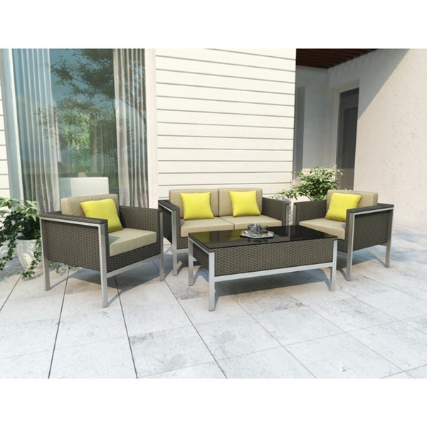 Sonax Furniture: Shop Sonax Lakeside 4-piece Patio Furniture Set In River