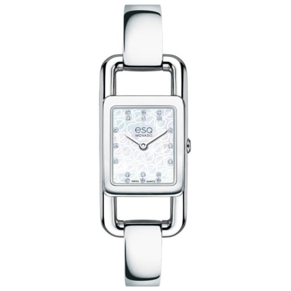 ESQ Movado Women's Angle Diamond Accent Watch