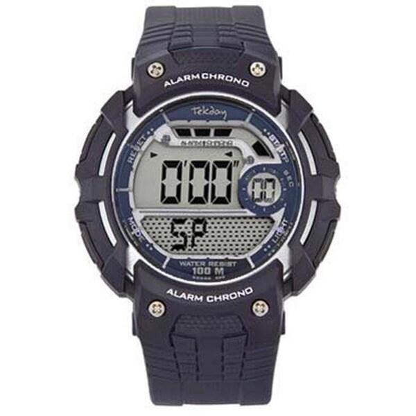 Tekday Men's Black Digital Date Watch