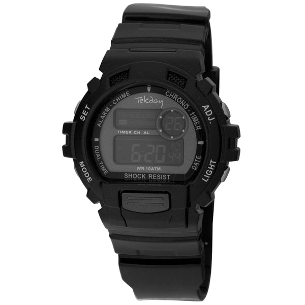 Tekday Men's Black Digital Watch