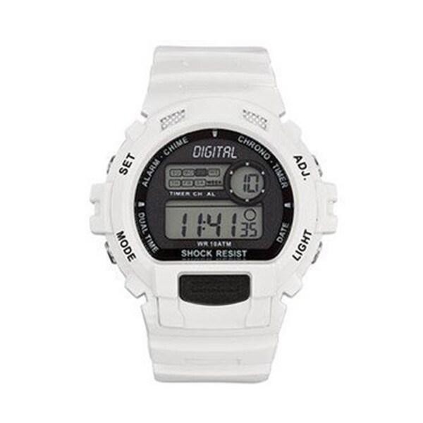 Tekday Men's White Digital Watch