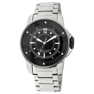 Gattinoni Men's Stainless Steel Black Dial Watch